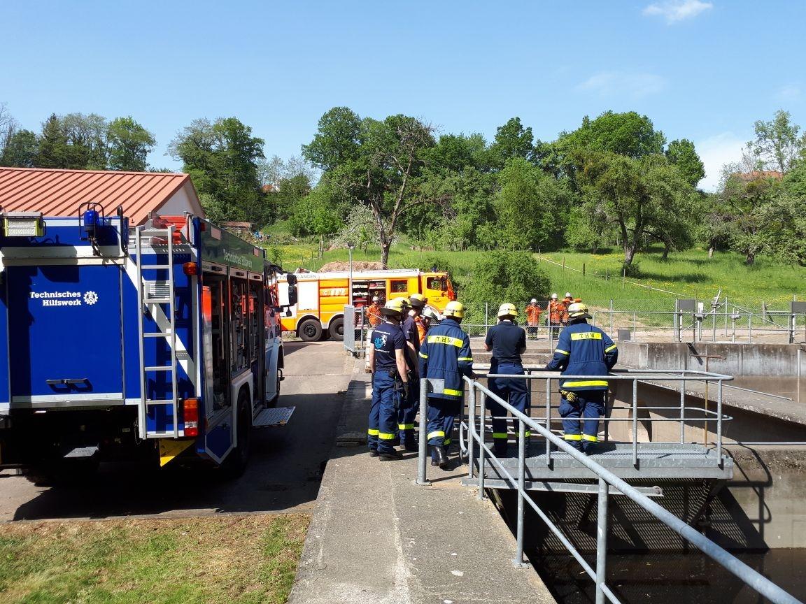 Thw Lv Bw Sturmschäden Beseitigt Thw Und Feuerwehren üben Gemeinsam